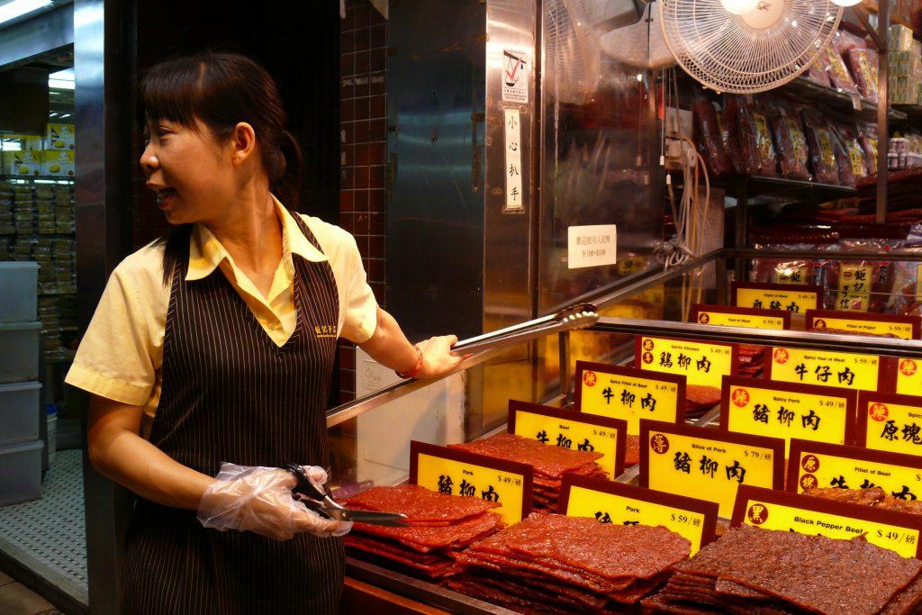 Месен специалитет, който се реже с ножица в Макао