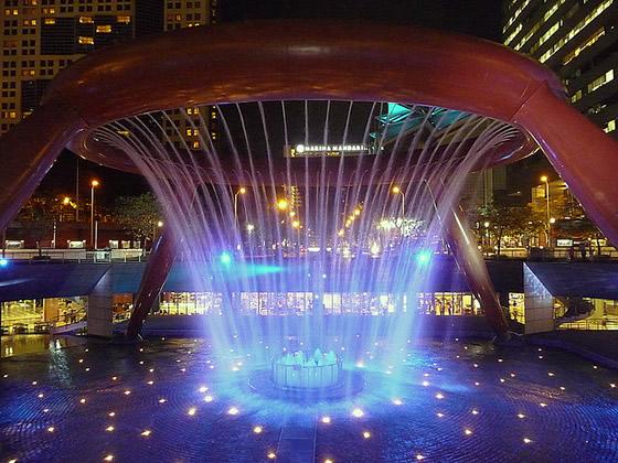Фонтанът на богатството в Сингапур