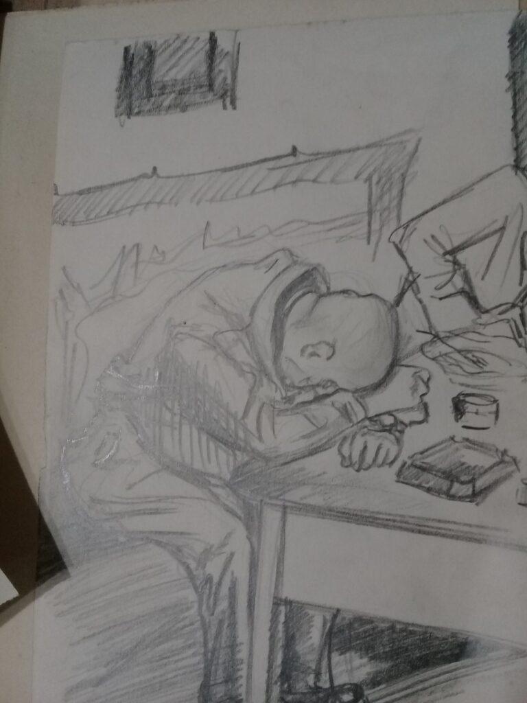 Пияни белогвардейци, рисувани от Ваня Петкова